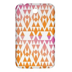 Geometric Abstract Orange Purple Pattern Samsung Galaxy Tab 3 (7 ) P3200 Hardshell Case