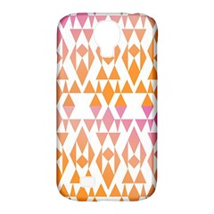 Geometric Abstract Orange Purple Pattern Samsung Galaxy S4 Classic Hardshell Case (PC+Silicone)