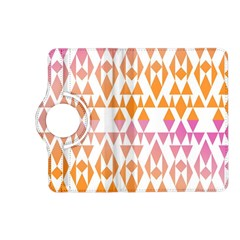 Geometric Abstract Orange Purple Pattern Kindle Fire HD (2013) Flip 360 Case