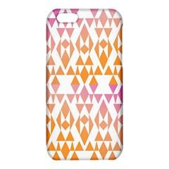 Geometric Abstract Orange Purple Pattern iPhone 6/6S TPU Case
