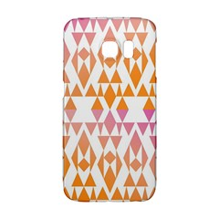 Geometric Abstract Orange Purple Pattern Galaxy S6 Edge