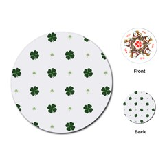 Green Leaf Playing Cards (Round)
