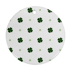 Green Leaf Round Ornament (Two Sides)