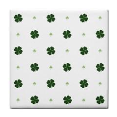 Green Leaf Face Towel