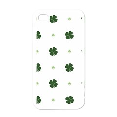 Green Leaf Apple iPhone 4 Case (White)