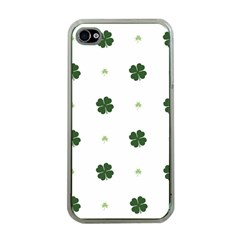 Green Leaf Apple iPhone 4 Case (Clear)