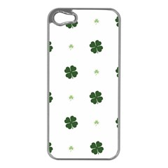 Green Leaf Apple iPhone 5 Case (Silver)
