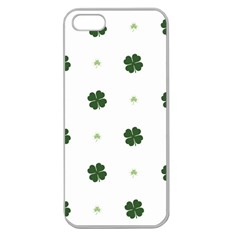 Green Leaf Apple Seamless iPhone 5 Case (Clear)