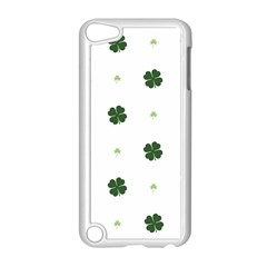 Green Leaf Apple iPod Touch 5 Case (White)