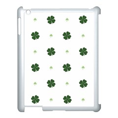 Green Leaf Apple iPad 3/4 Case (White)