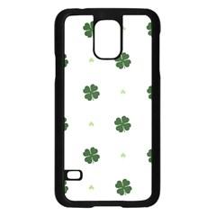 Green Leaf Samsung Galaxy S5 Case (Black)