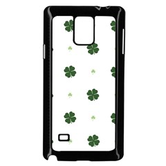 Green Leaf Samsung Galaxy Note 4 Case (Black)