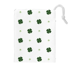 Green Leaf Drawstring Pouches (Extra Large)