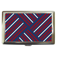 Geometric Background Stripes Red White Cigarette Money Cases