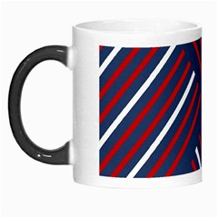 Geometric Background Stripes Red White Morph Mugs