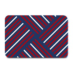 Geometric Background Stripes Red White Plate Mats