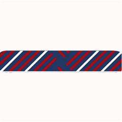 Geometric Background Stripes Red White Small Bar Mats
