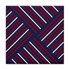 Geometric Background Stripes Red White Face Towel