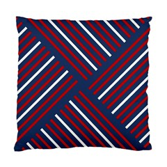 Geometric Background Stripes Red White Standard Cushion Case (Two Sides)