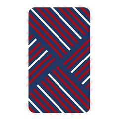 Geometric Background Stripes Red White Memory Card Reader