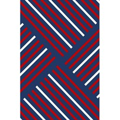 Geometric Background Stripes Red White 5.5  x 8.5  Notebooks