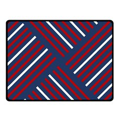 Geometric Background Stripes Red White Fleece Blanket (Small)