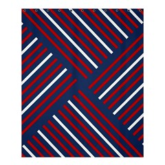 Geometric Background Stripes Red White Shower Curtain 60  x 72  (Medium)