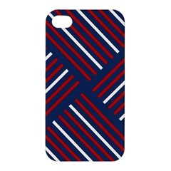 Geometric Background Stripes Red White Apple iPhone 4/4S Hardshell Case