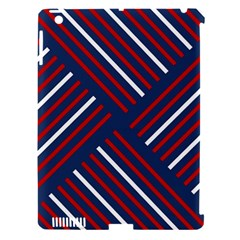 Geometric Background Stripes Red White Apple iPad 3/4 Hardshell Case (Compatible with Smart Cover)