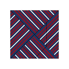 Geometric Background Stripes Red White Acrylic Tangram Puzzle (4  x 4 )