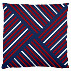 Geometric Background Stripes Red White Large Cushion Case (Two Sides)