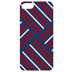 Geometric Background Stripes Red White Apple iPhone 5 Classic Hardshell Case
