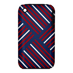 Geometric Background Stripes Red White iPhone 3S/3GS