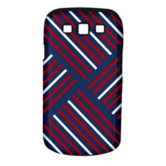 Geometric Background Stripes Red White Samsung Galaxy S III Classic Hardshell Case (PC+Silicone)
