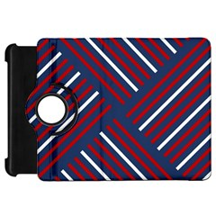 Geometric Background Stripes Red White Kindle Fire HD 7