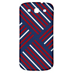 Geometric Background Stripes Red White Samsung Galaxy S3 S III Classic Hardshell Back Case