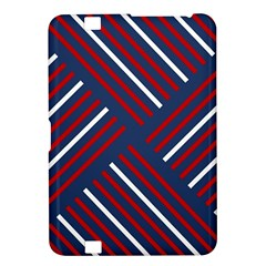Geometric Background Stripes Red White Kindle Fire HD 8.9