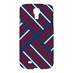 Geometric Background Stripes Red White Samsung Galaxy S4 I9500/I9505 Hardshell Case