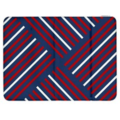 Geometric Background Stripes Red White Samsung Galaxy Tab 7  P1000 Flip Case