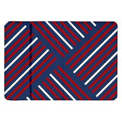 Geometric Background Stripes Red White Samsung Galaxy Tab 8.9  P7300 Flip Case
