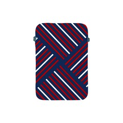 Geometric Background Stripes Red White Apple iPad Mini Protective Soft Cases