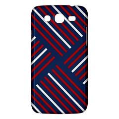 Geometric Background Stripes Red White Samsung Galaxy Mega 5.8 I9152 Hardshell Case