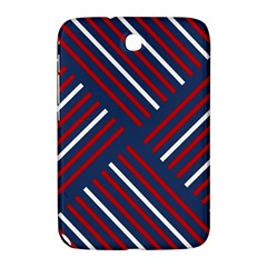 Geometric Background Stripes Red White Samsung Galaxy Note 8.0 N5100 Hardshell Case