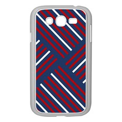 Geometric Background Stripes Red White Samsung Galaxy Grand DUOS I9082 Case (White)