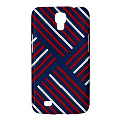 Geometric Background Stripes Red White Samsung Galaxy Mega 6.3  I9200 Hardshell Case