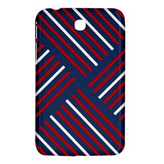Geometric Background Stripes Red White Samsung Galaxy Tab 3 (7 ) P3200 Hardshell Case