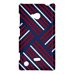 Geometric Background Stripes Red White Nokia Lumia 720