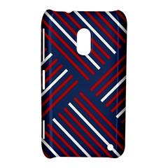 Geometric Background Stripes Red White Nokia Lumia 620