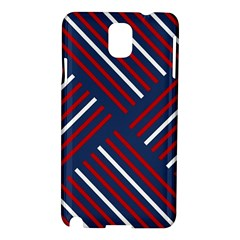 Geometric Background Stripes Red White Samsung Galaxy Note 3 N9005 Hardshell Case