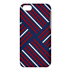 Geometric Background Stripes Red White Apple iPhone 5C Hardshell Case
